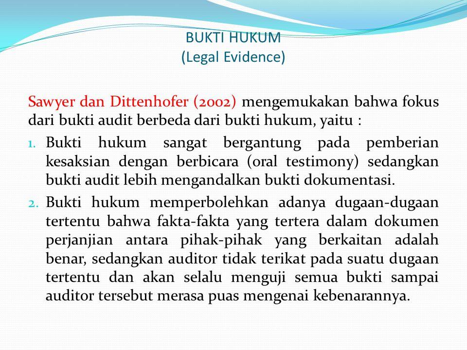 BUKTI HUKUM (Legal Evidence)
