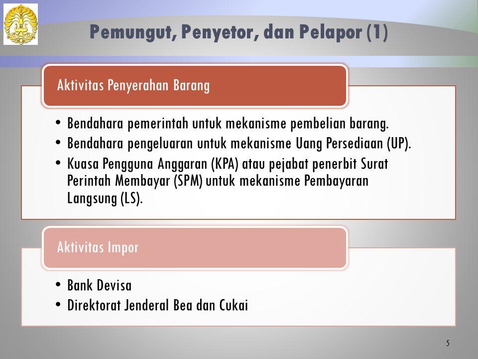Pemungut, Penyetor, dan Pelapor (1)