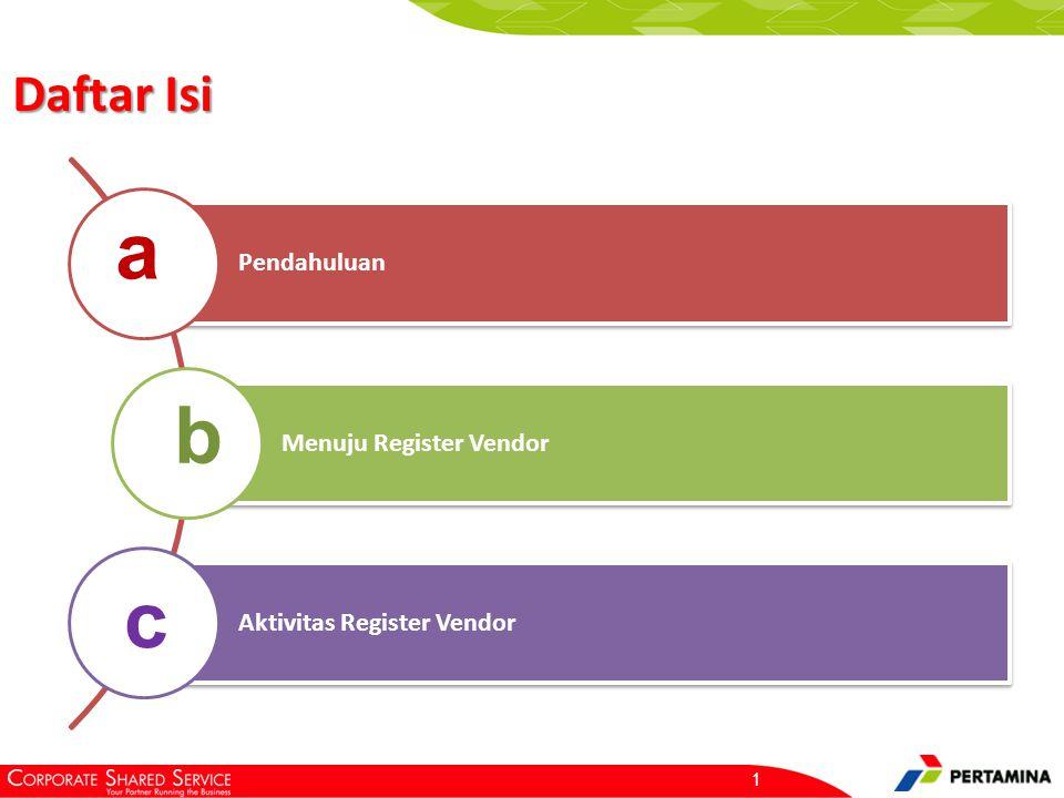 Pendahuluan Register merupakan proses pendaftaran vendor melalui aplikasi IP2P