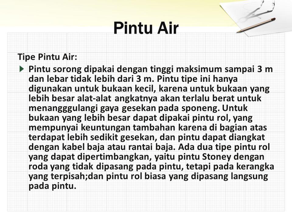 Pintu Air Tipe Pintu Air: