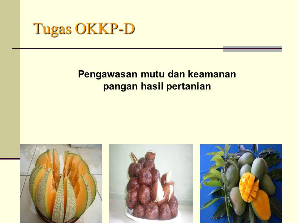 Pengawasan mutu dan keamanan pangan hasil pertanian