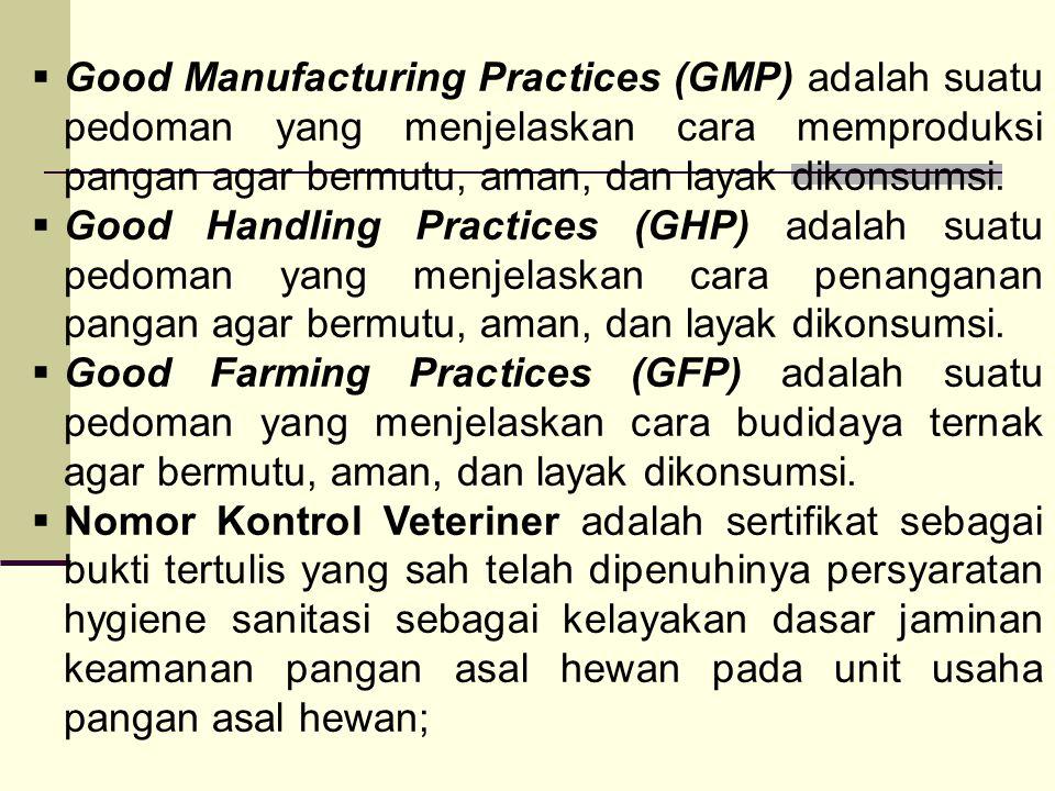 Good Manufacturing Practices (GMP) adalah suatu pedoman yang menjelaskan cara memproduksi pangan agar bermutu, aman, dan layak dikonsumsi.