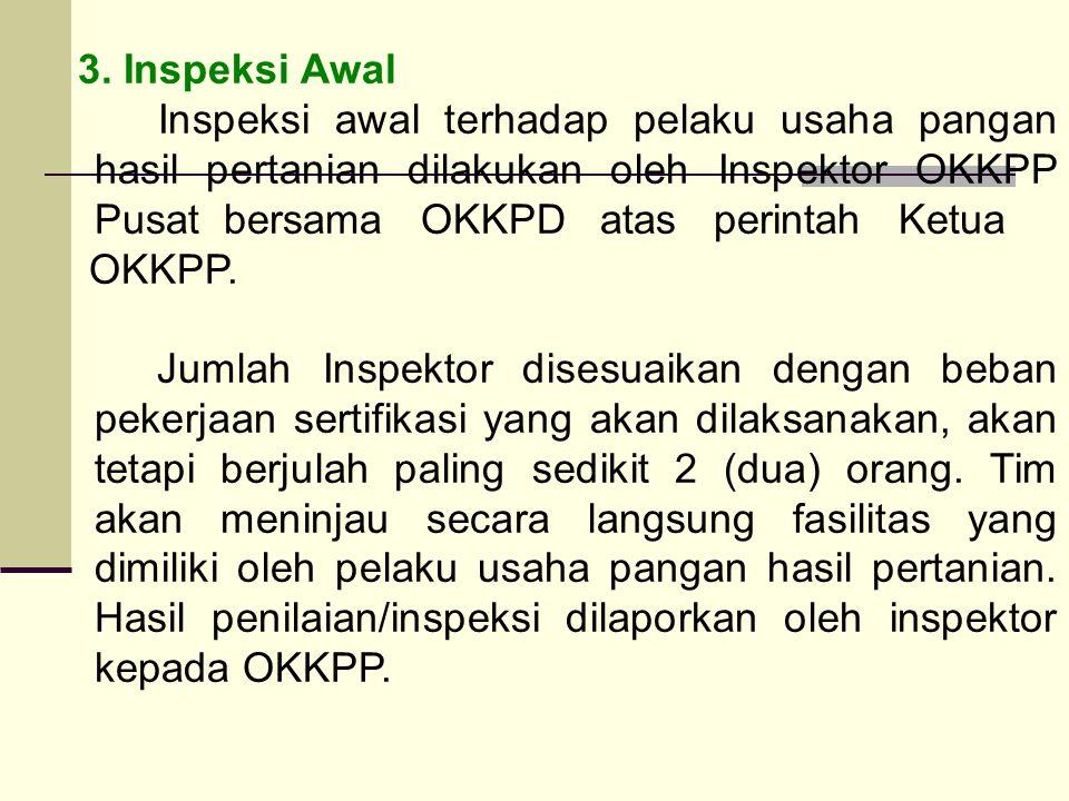 3. Inspeksi Awal