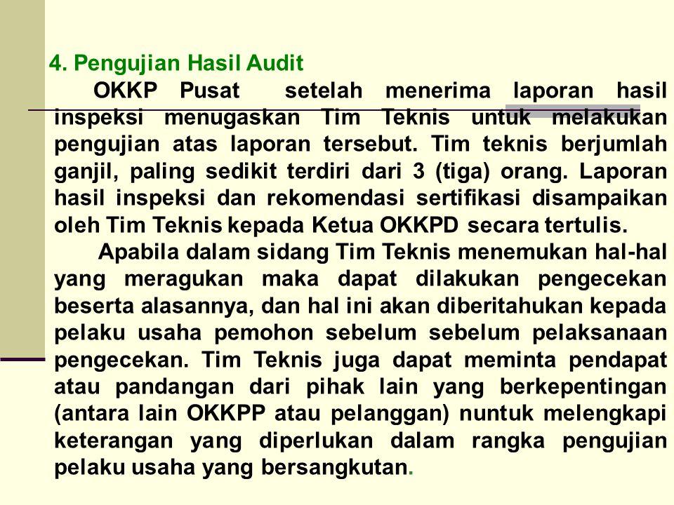 4. Pengujian Hasil Audit