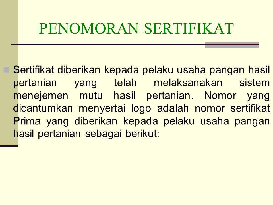 PENOMORAN SERTIFIKAT