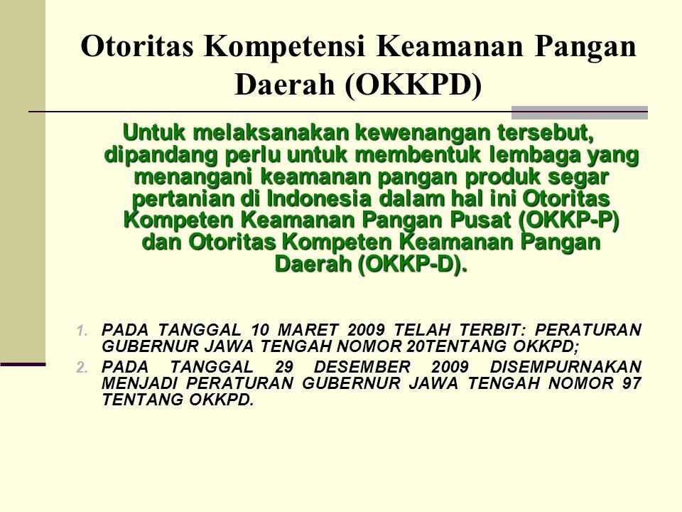 Otoritas Kompetensi Keamanan Pangan Daerah (OKKPD)