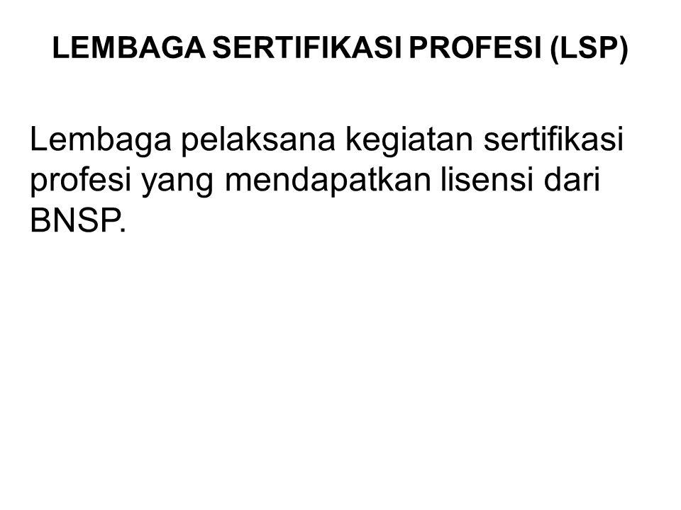 LEMBAGA SERTIFIKASI PROFESI (LSP)