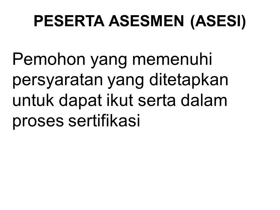 PESERTA ASESMEN (ASESI)