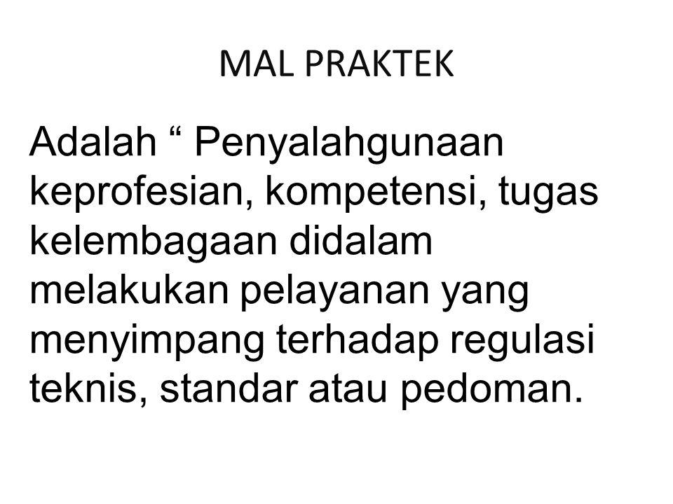 MAL PRAKTEK