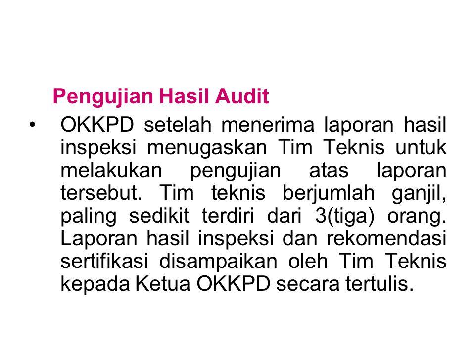 Pengujian Hasil Audit