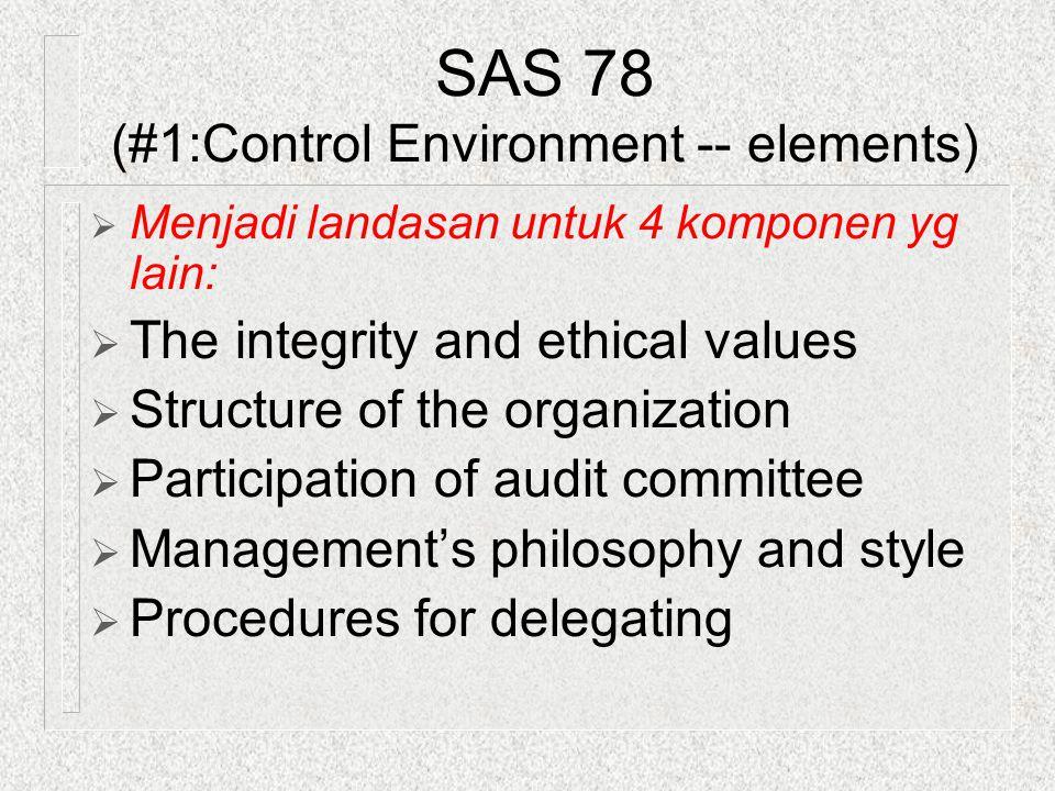 SAS 78 (#1:Control Environment -- elements)