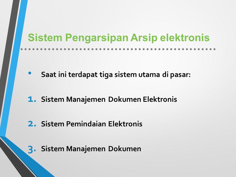 Sistem Pengarsipan Arsip elektronis
