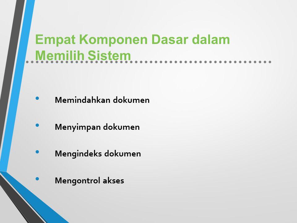 Empat Komponen Dasar dalam Memilih Sistem
