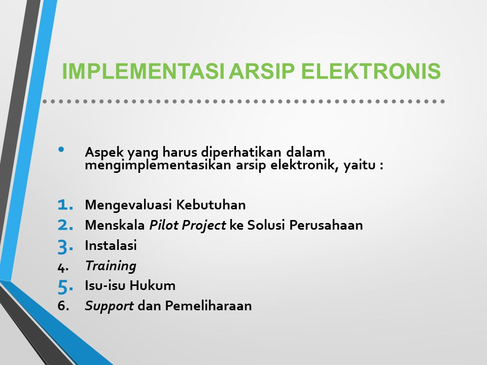 IMPLEMENTASI ARSIP ELEKTRONIS