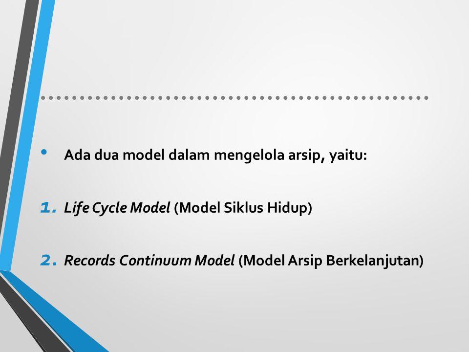 Ada dua model dalam mengelola arsip, yaitu: