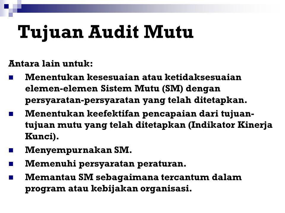 Tujuan Audit Mutu Antara lain untuk: