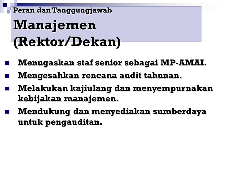 Menugaskan staf senior sebagai MP-AMAI.