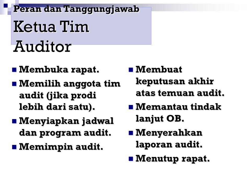 Peran dan Tanggungjawab Ketua Tim Auditor