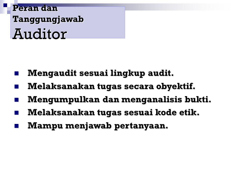 Peran dan Tanggungjawab Auditor