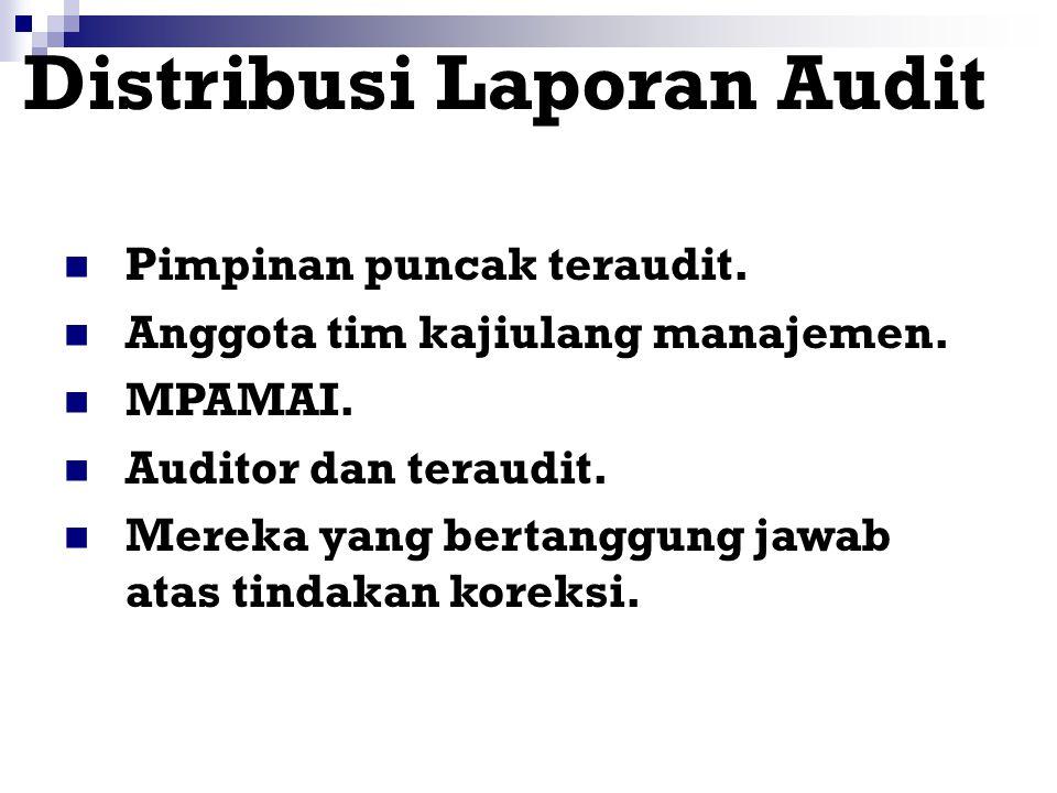 Distribusi Laporan Audit