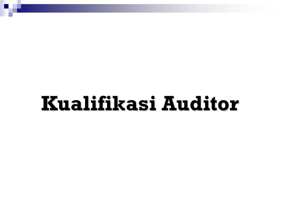 Kualifikasi Auditor