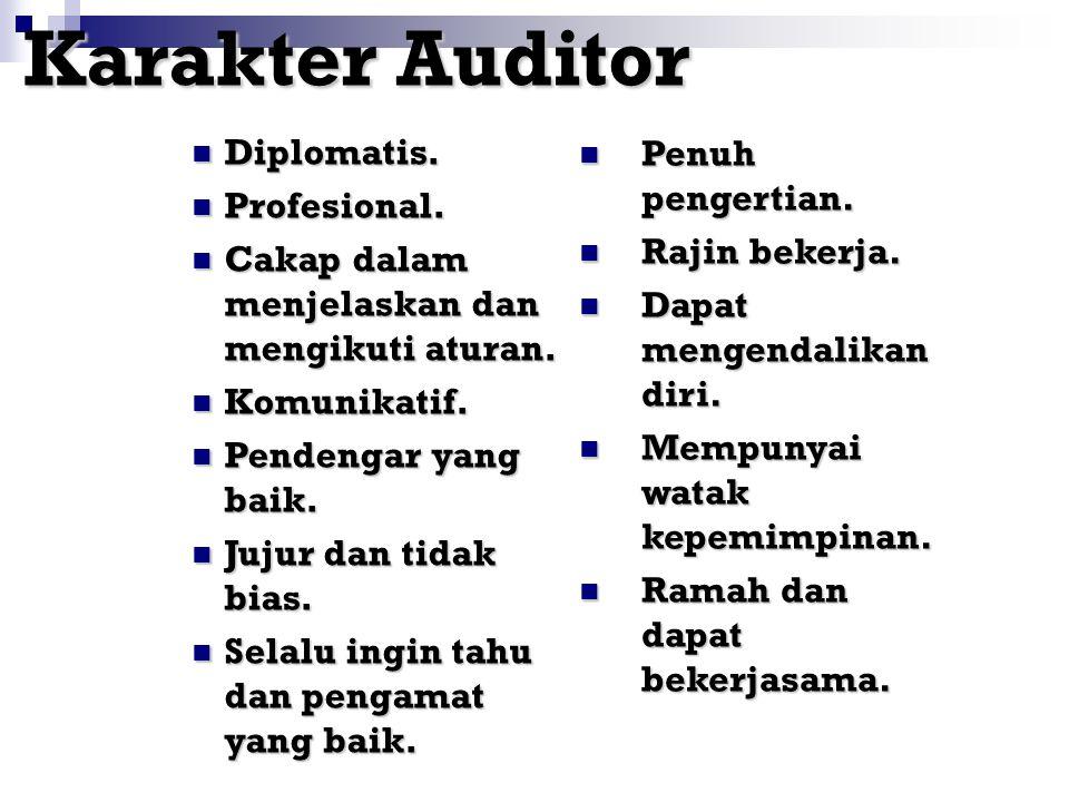Karakter Auditor Diplomatis. Penuh pengertian. Profesional.