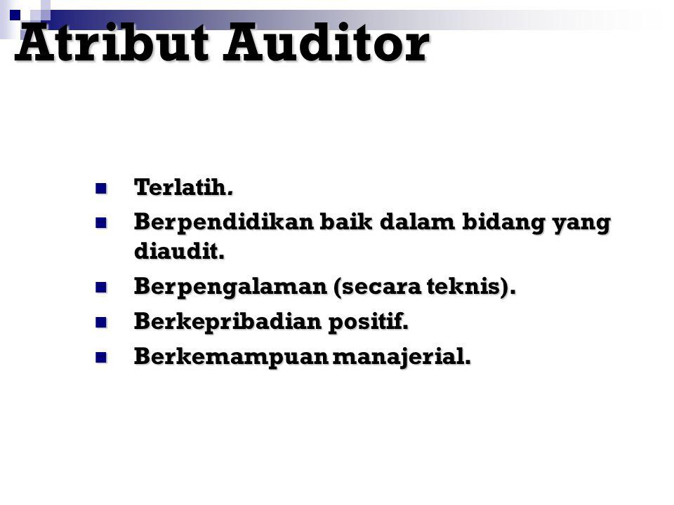 Atribut Auditor Terlatih.
