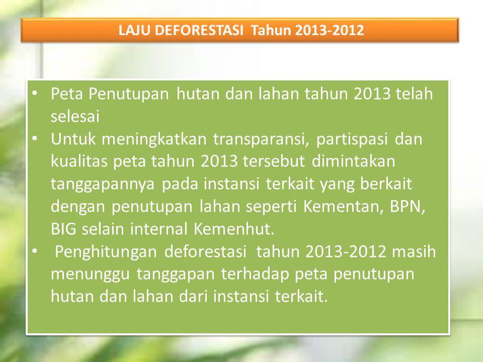 LAJU DEFORESTASI Tahun 2013-2012
