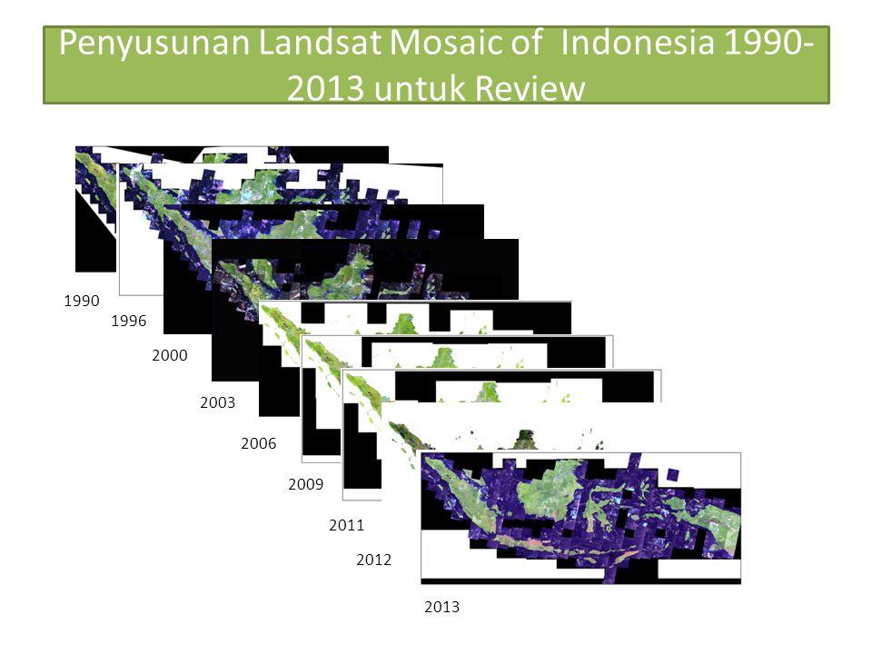 Penyusunan Landsat Mosaic of Indonesia 1990-2013 untuk Review