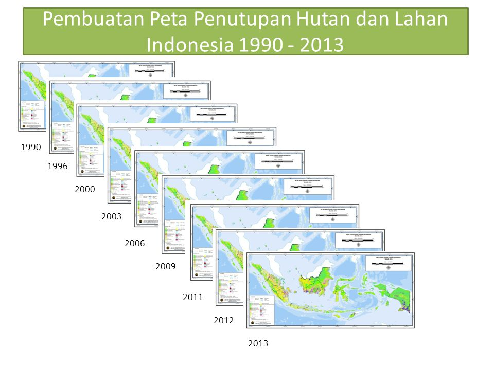 Pembuatan Peta Penutupan Hutan dan Lahan Indonesia 1990 - 2013
