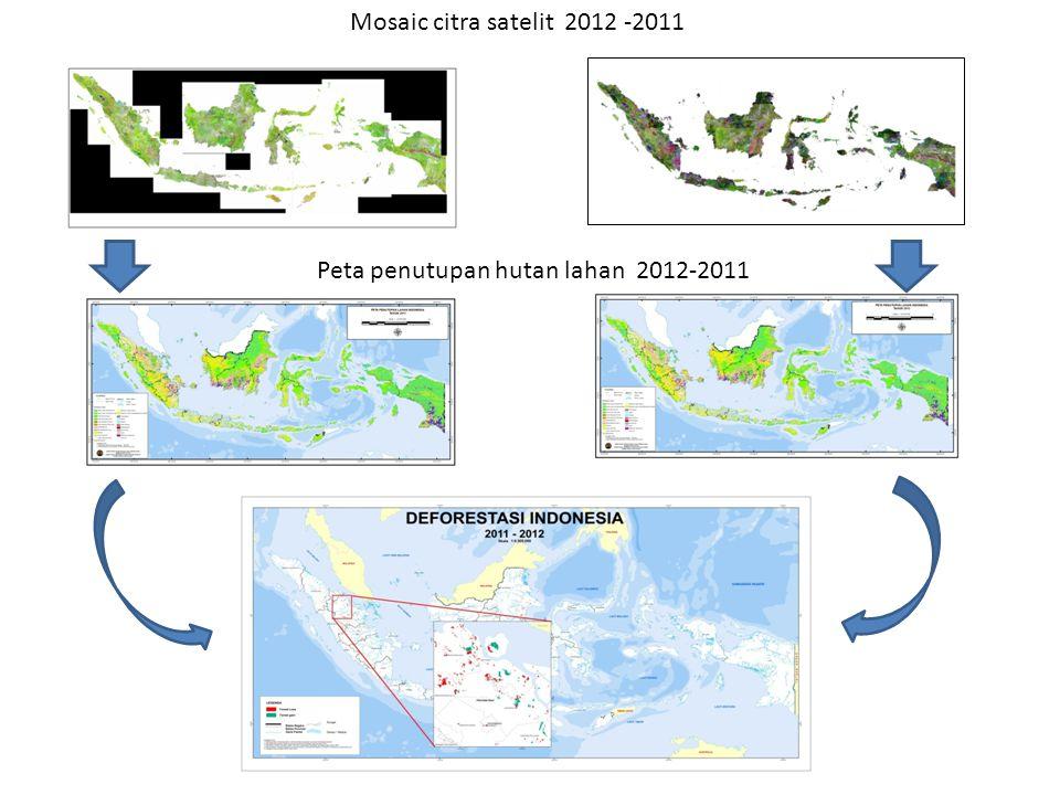 Peta penutupan hutan lahan 2012-2011