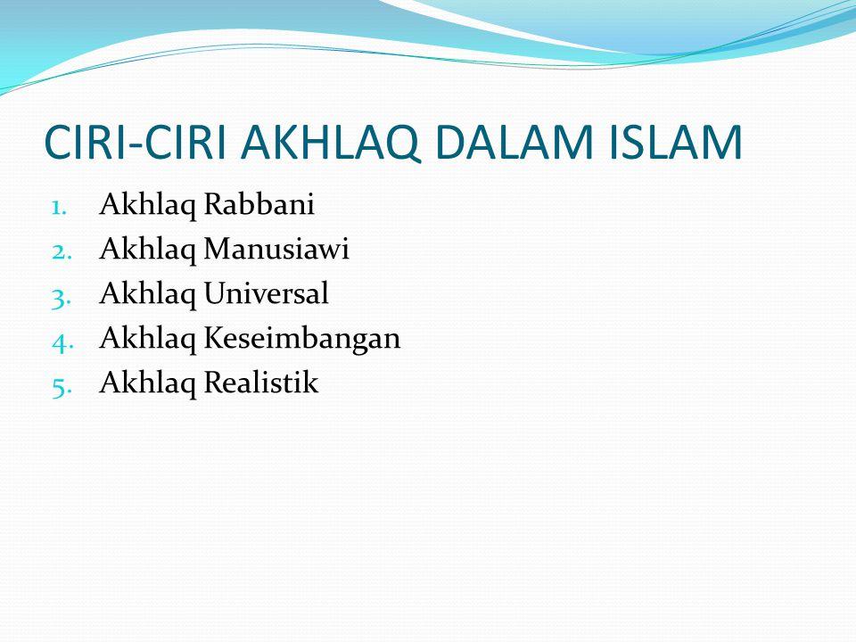 CIRI-CIRI AKHLAQ DALAM ISLAM