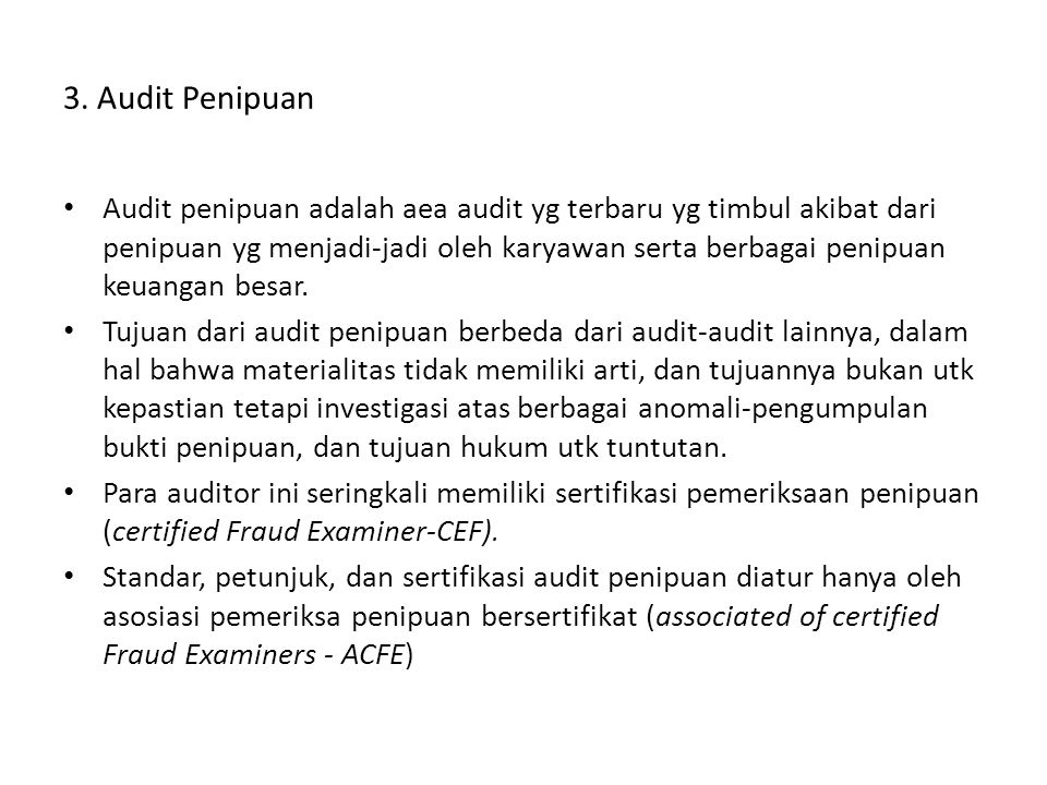 3. Audit Penipuan