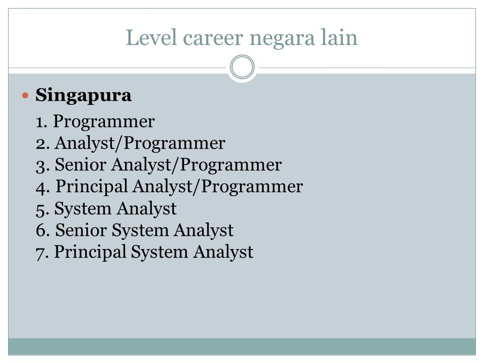 Level career negara lain