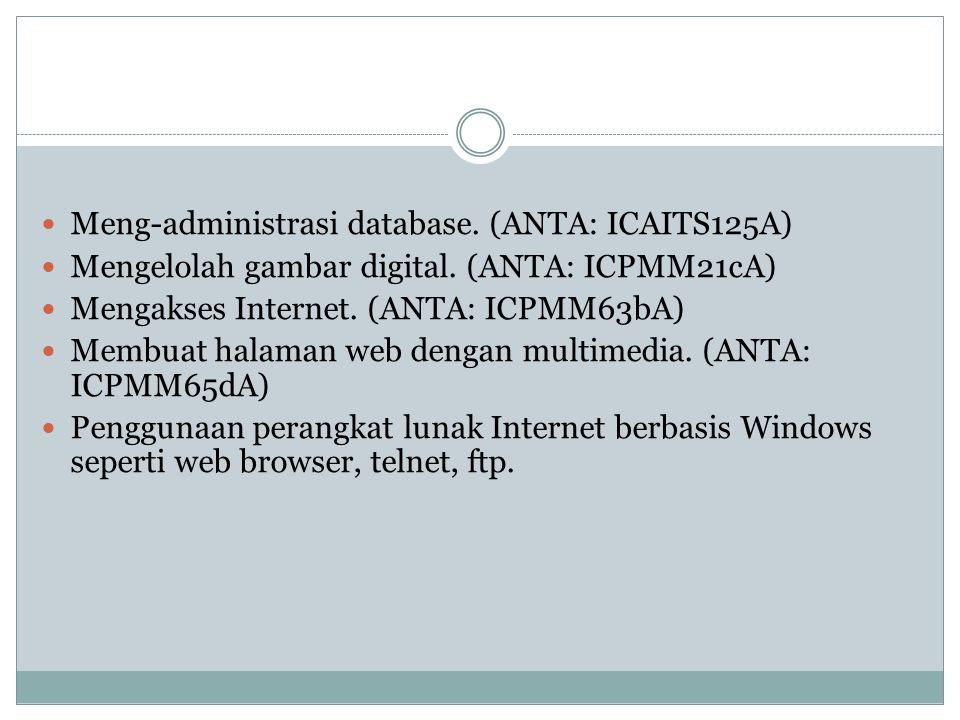 Meng-administrasi database. (ANTA: ICAITS125A)