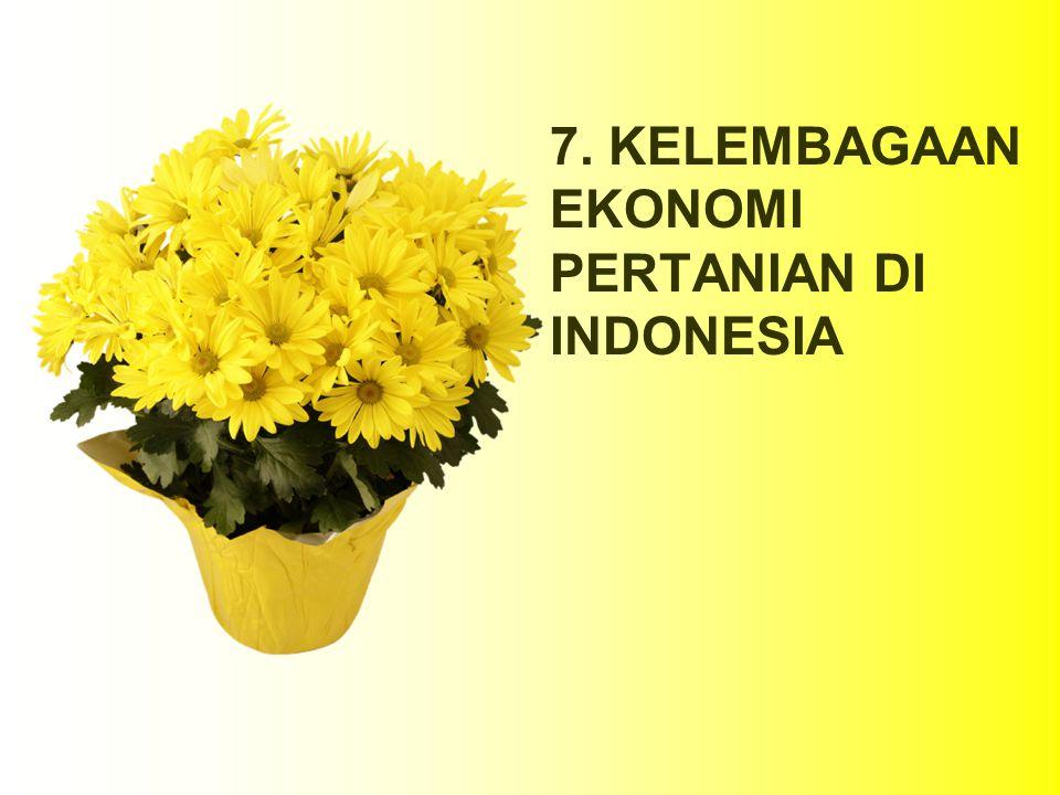7. KELEMBAGAAN EKONOMI PERTANIAN DI INDONESIA
