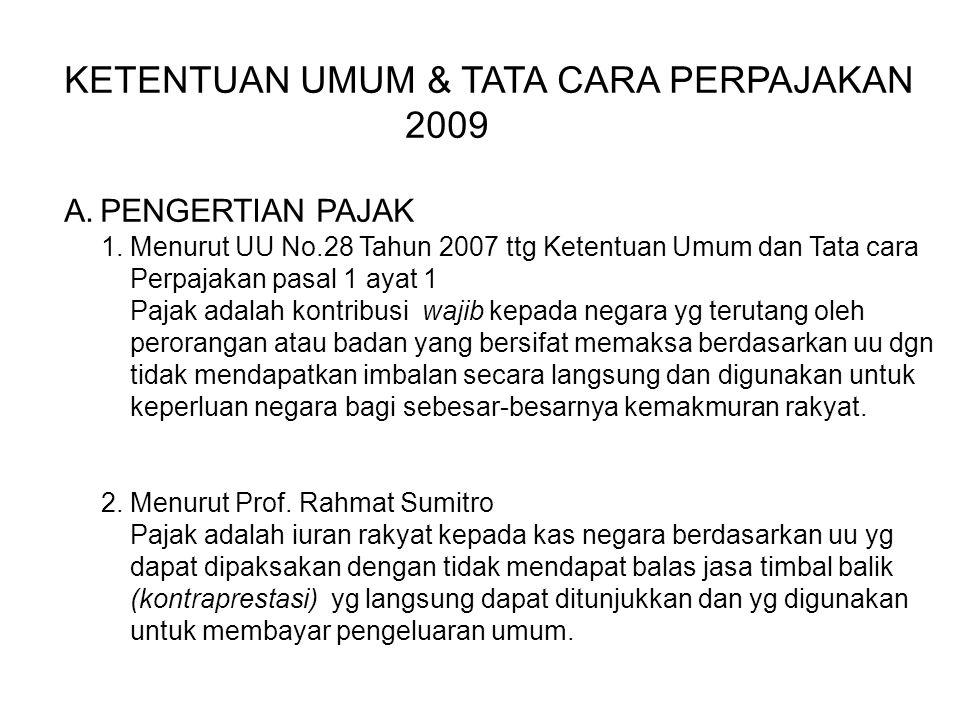 KETENTUAN UMUM & TATA CARA PERPAJAKAN 2009