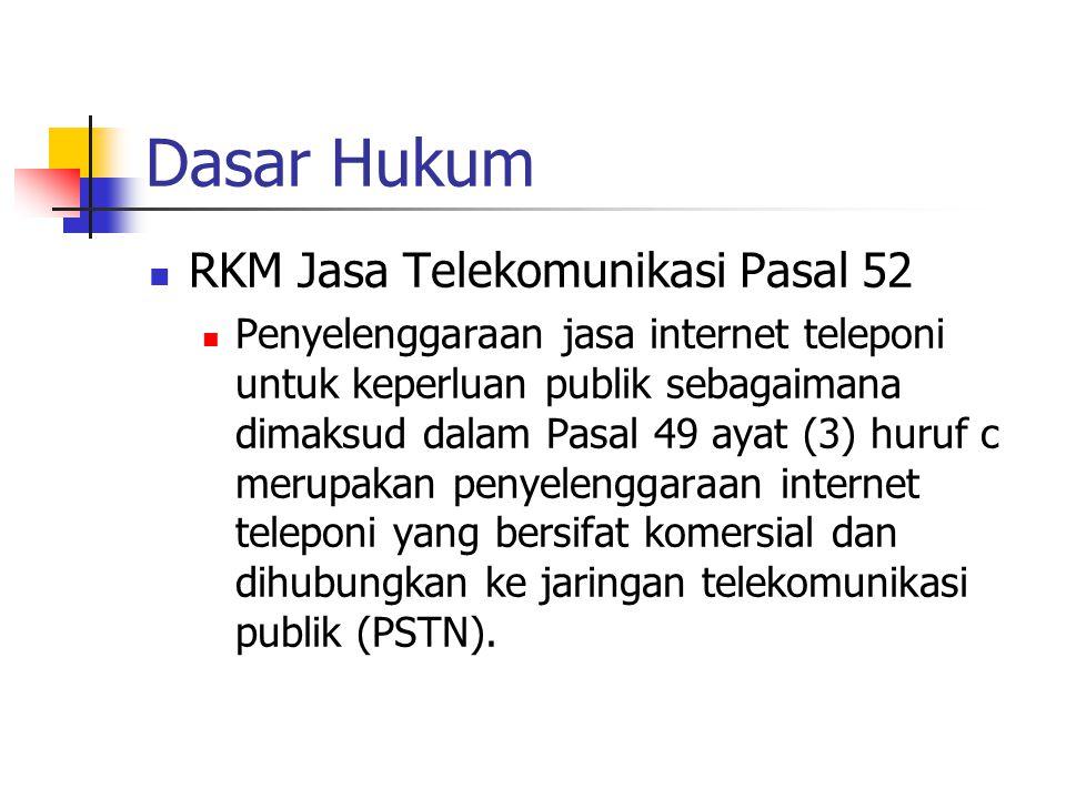Dasar Hukum RKM Jasa Telekomunikasi Pasal 52