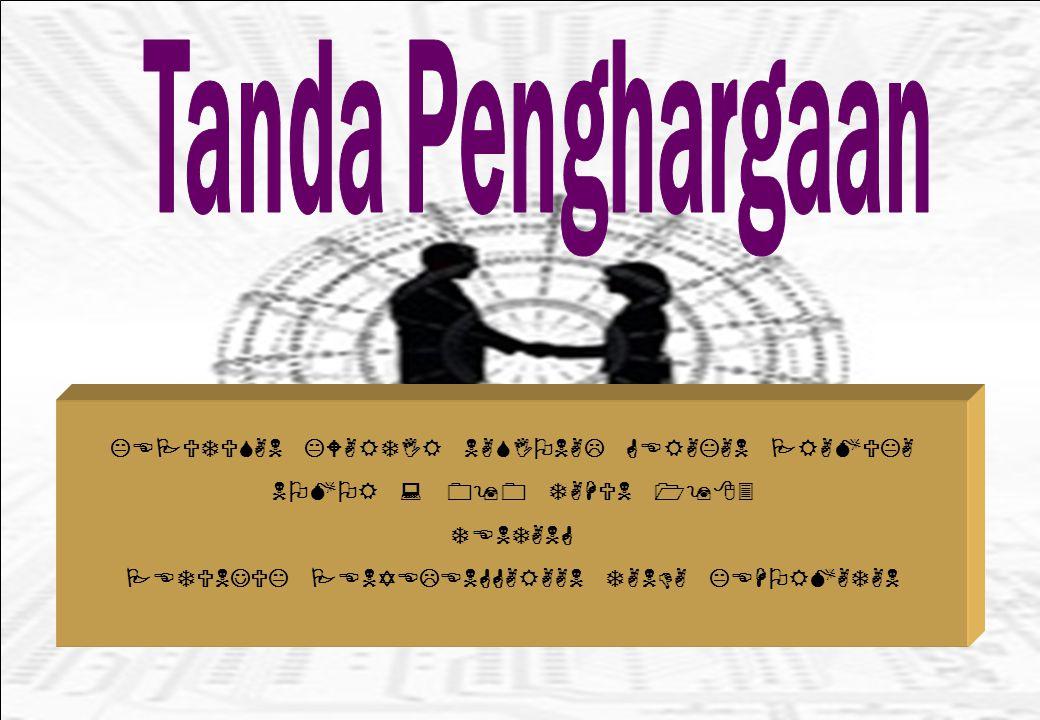 Tanda Penghargaan KEPUTUSAN KWARTIR NASIONAL GERAKAN PRAMUKA