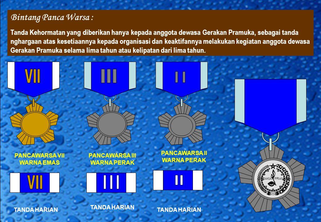 Bintang Panca Warsa : VII III II VII III