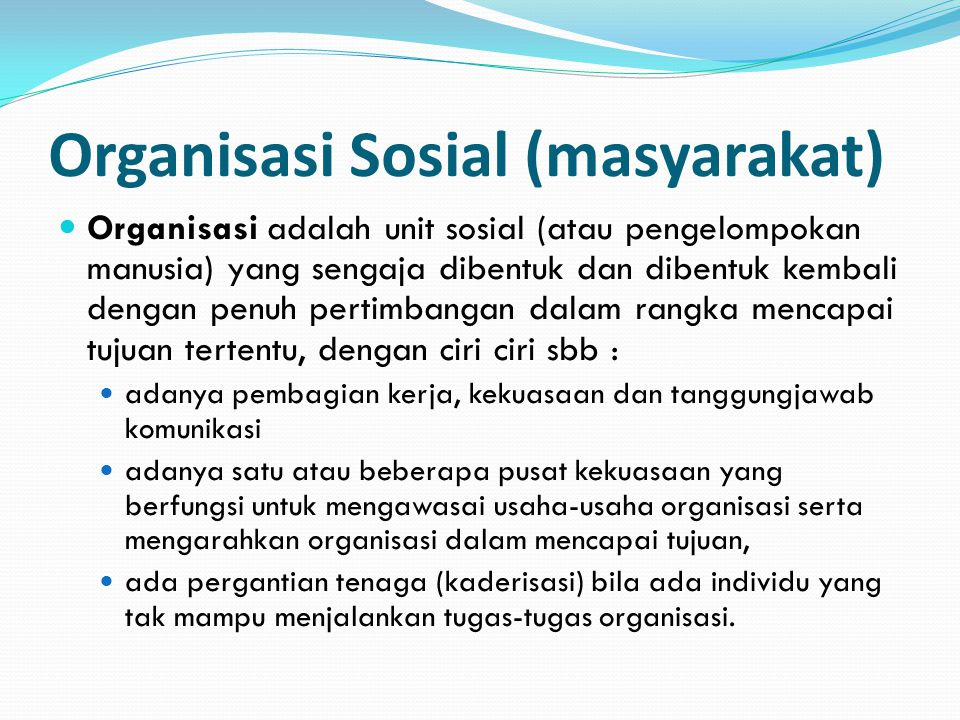 Organisasi Sosial (masyarakat)