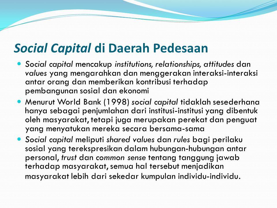Social Capital di Daerah Pedesaan