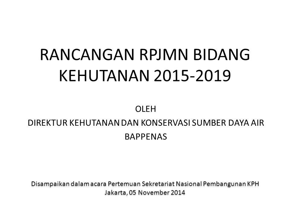 RANCANGAN RPJMN BIDANG KEHUTANAN 2015-2019