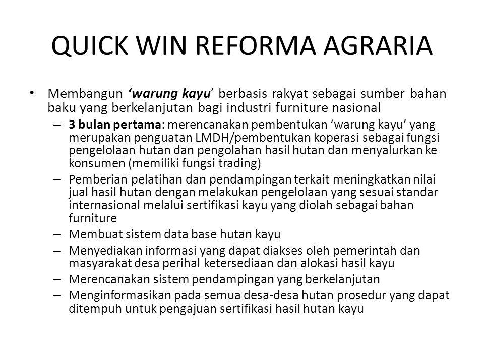 QUICK WIN REFORMA AGRARIA