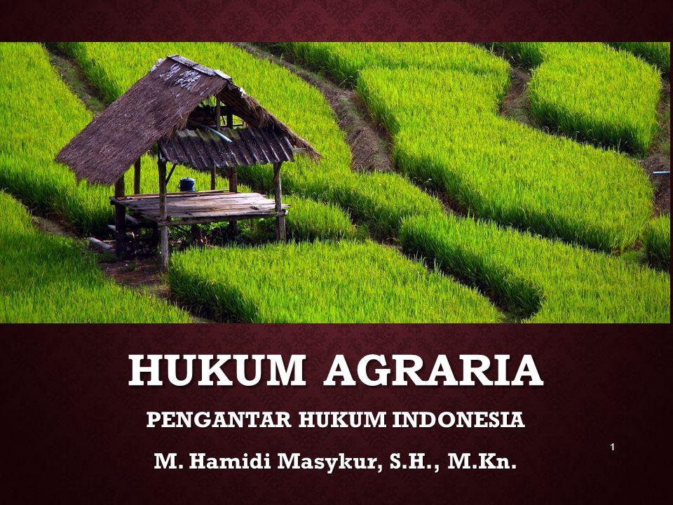 PENGANTAR HUKUM INDONESIA M. Hamidi Masykur, S.H., M.Kn.