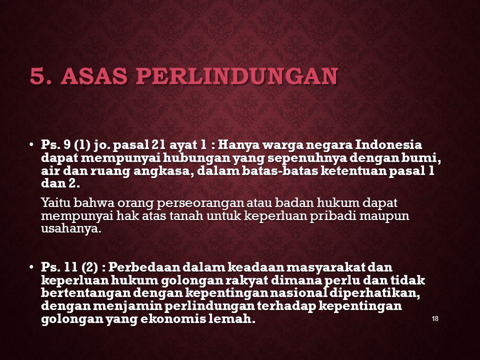5. Asas Perlindungan