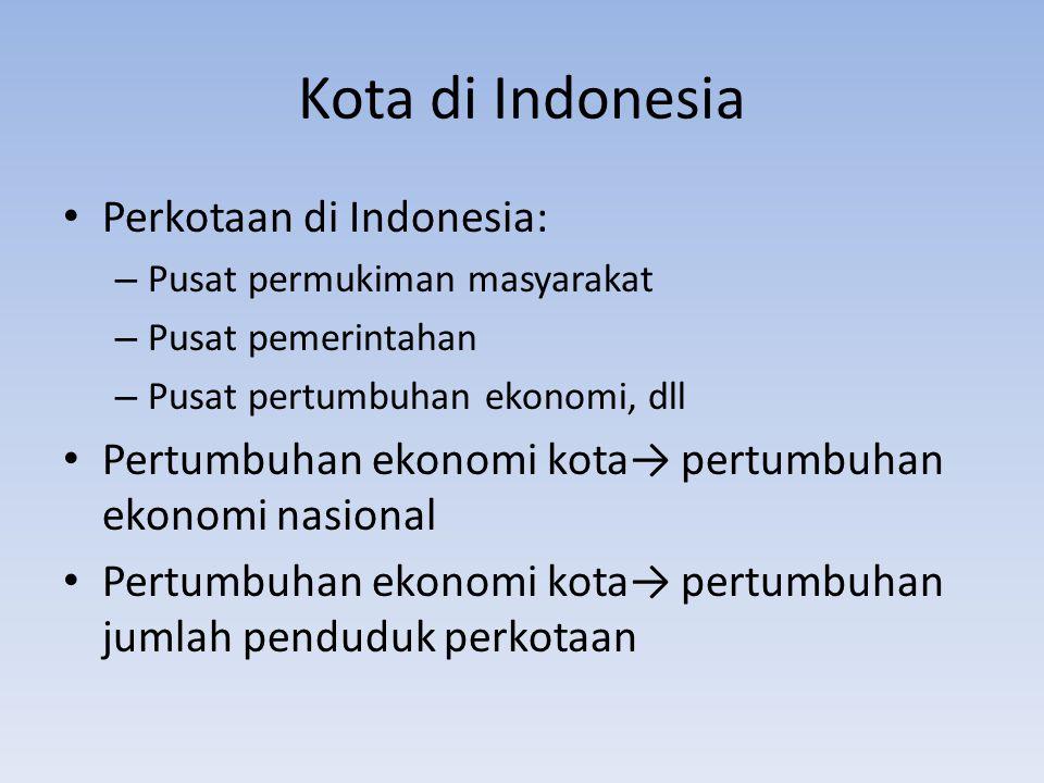Kota di Indonesia Perkotaan di Indonesia: