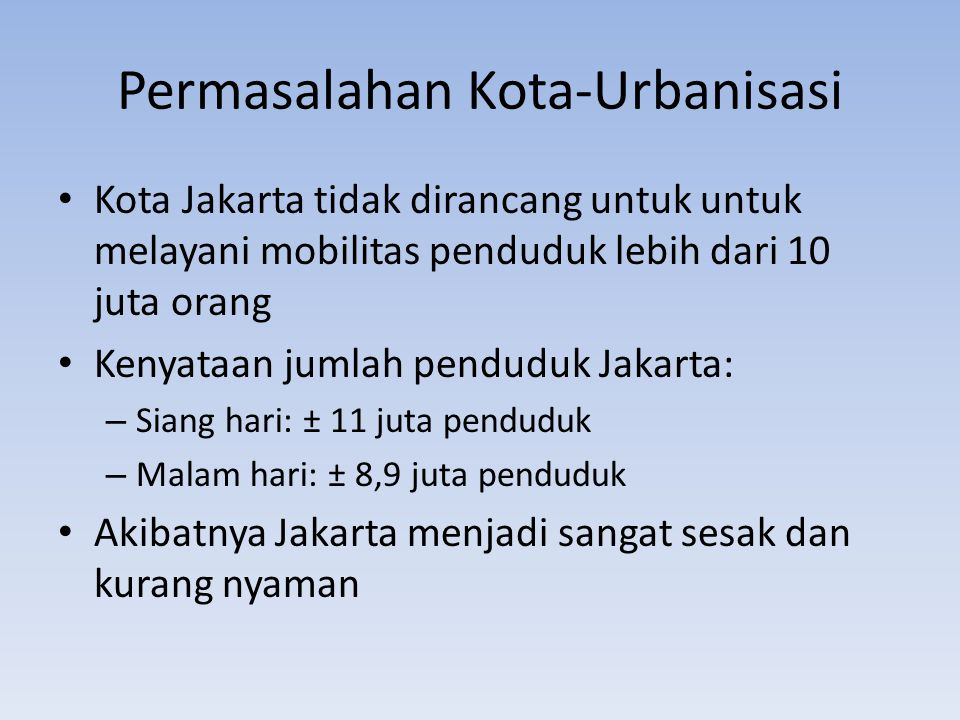 Permasalahan Kota-Urbanisasi