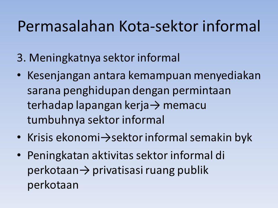 Permasalahan Kota-sektor informal