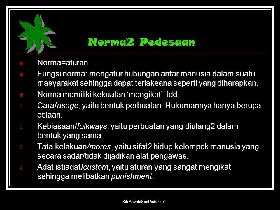 Norma2 Pedesaan Norma=aturan